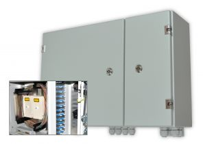 Turn-key wall mount enclosures for reliable data transfer in harsh environments