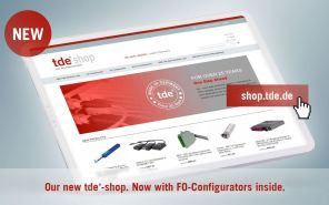More clearly, more functional, more detailed: network specialist tde´s new online shop